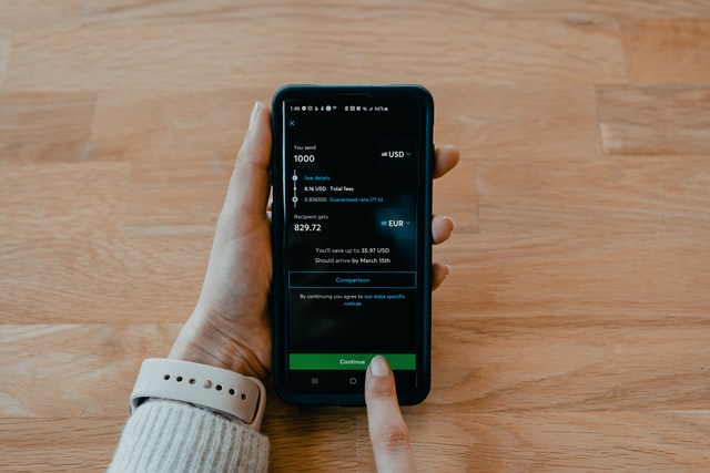 transferwise app screen